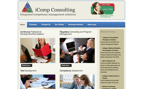 Screenshot of Home Page icompconsulting.com - iCompConsulting.com - captured Oct. 6, 2014