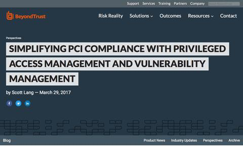 Screenshot of Team Page beyondtrust.com - Simplifying PCI Compliance with Privileged Access Management and Vulnerability M | BeyondTrust - captured Jan. 3, 2020