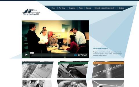 Screenshot of Home Page alpineholdings.net - Alpine Holdings - captured Oct. 9, 2015