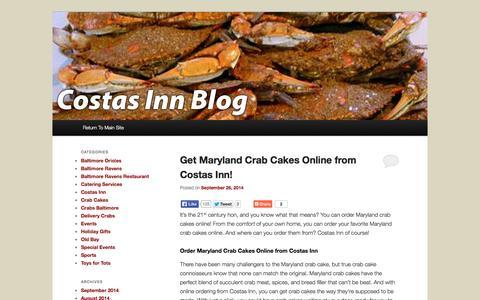 Screenshot of Blog costasinn.com - Costas Inn |Costas Inn - captured Sept. 30, 2014