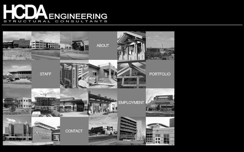 Screenshot of Home Page hcdaengineering.com - HCDA Engineering - captured Oct. 1, 2014