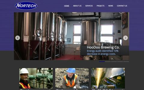 Screenshot of Home Page nortechengr.com - NORTECH - Engineering Results - captured Sept. 4, 2015