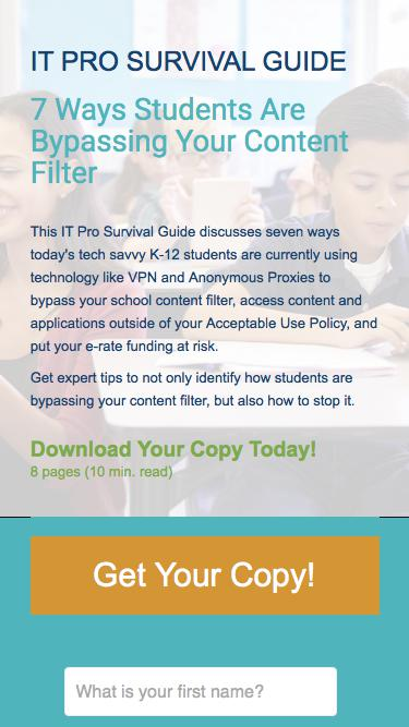 7 Ways Students Are Bypassing Your Content Filter and Putting Your K-12 Network at Risk | Exinda