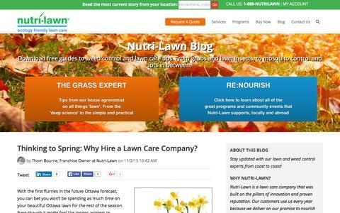 Screenshot of Blog nutrilawn.com - Nutri-Lawn Blog - captured Jan. 11, 2016