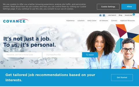 Screenshot of Jobs Page covance.com - Careers at Covance   Covance job opportunities - captured July 11, 2019