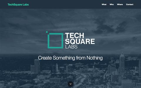 Screenshot of Home Page techsquare.co - TechSquare Labs - captured Oct. 7, 2014