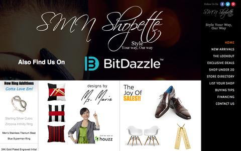 Screenshot of Home Page smnshopette.tk - SMN Shopette | Style Your Way, Our Way - captured Jan. 30, 2015