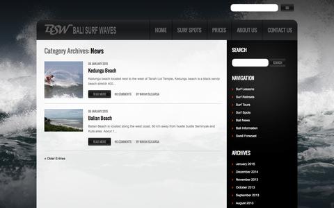 Screenshot of Press Page balisurfwaves.com - News Archives | Bali Surf Waves - captured Dec. 29, 2015