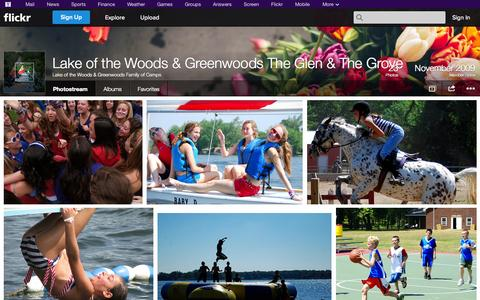 Screenshot of Flickr Page flickr.com - Flickr: Lake of the Woods & Greenwoods Family of Camps' Photostream - captured Oct. 27, 2014