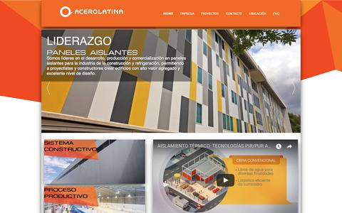 Screenshot of Home Page acerolatina.com - Acerolatina     | HOME - captured Oct. 2, 2018