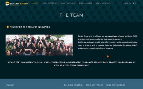 Screenshot of Team Page bardotgroup.com - The team - BARDOT GROUP - captured Nov. 17, 2016