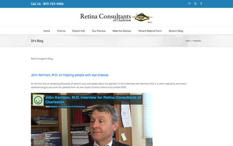 Dr's Blog | Retina Consultants of Charleston