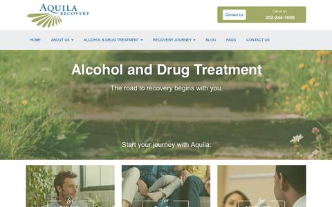 Screenshot of Home Page aquilarecovery.com - Alcohol and Drug Rehab Treatment Facility - Washington, DC - captured Dec. 26, 2015