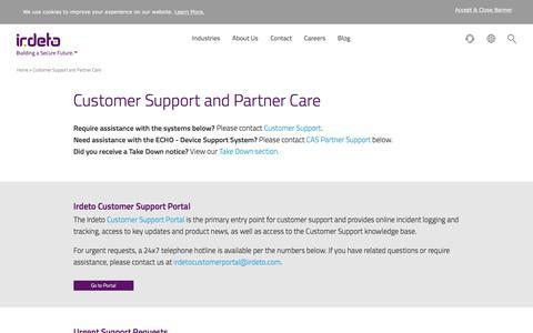 Screenshot of Support Page irdeto.com - Support - Irdeto - captured June 8, 2017