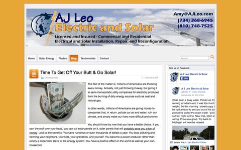 Screenshot of Blog ajleo.com - Blog » A J Leo Electric & Solar - captured Oct. 2, 2014