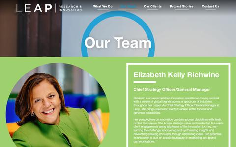 Screenshot of Team Page leapresearchinnovation.com - Research & Innovation Consultant Team | Leap Research & Innovation Company - captured Sept. 27, 2018