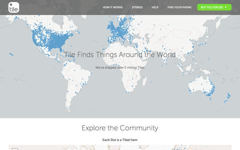 Screenshot of Maps & Directions Page thetileapp.com captured Nov. 17, 2015