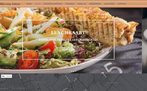 Screenshot of Menu Page bij5.nl - MENUKAART | Naaldwijk | Grand Café - Restaurant Bij5 - captured Sept. 30, 2018