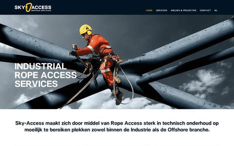 Screenshot of Home Page sky-access.com - Home - Sky Access - captured Nov. 17, 2018