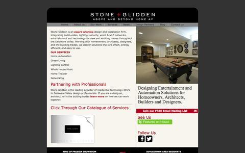 Screenshot of Home Page stoneglidden.com - Stone + Glidden - captured Oct. 7, 2014