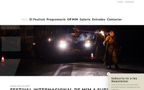 Screenshot of Home Page mimsueca.com - Mostra Internacional de MIM a Sueca | Mostra Internacional de MIM a Sueca - captured March 5, 2016