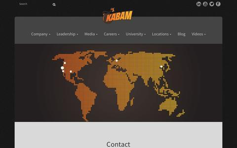 Screenshot of Contact Page kabam.com - Contact - Kabam - captured July 3, 2016