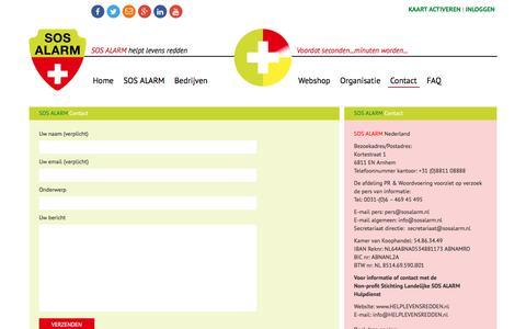 Screenshot of Contact Page sosalarm.nl - Contact | SOS Alarm - captured Sept. 24, 2016