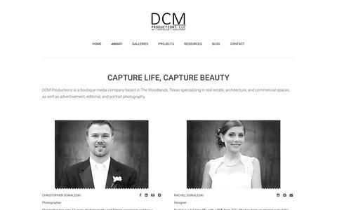 Screenshot of About Page dcmproductionsllc.com - About - DCM Productions LLC - captured Jan. 7, 2016