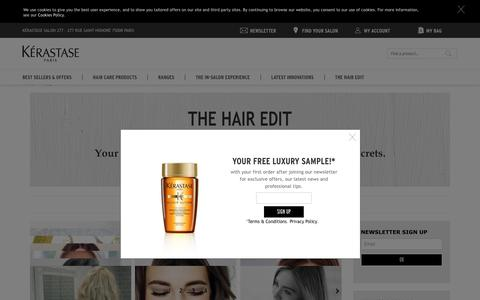 Screenshot of Blog kerastase.co.uk - The Hair Edit | The Kérastase Blog - captured April 27, 2018