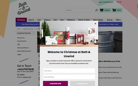 Screenshot of Privacy Page bathandunwind.com - Our Privacy Policy   Bath & Unwind - captured Nov. 22, 2016