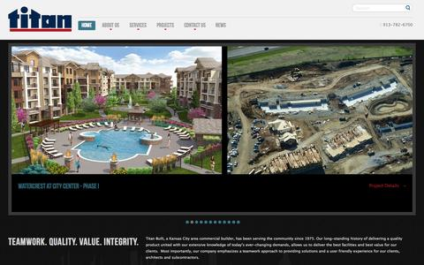 Screenshot of Home Page titanbuilt.com - Titan Built :: Construction - captured Oct. 9, 2014