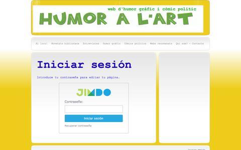 Screenshot of Login Page humoralart.com - Iniciar sesión - humoralart - captured Jan. 21, 2016
