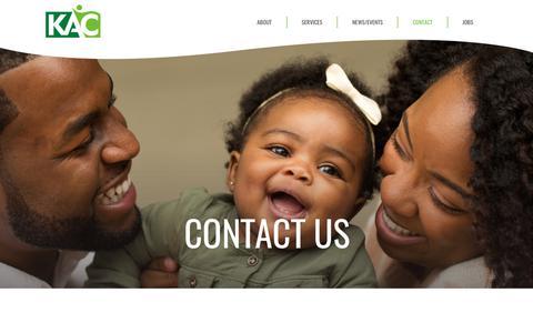 Screenshot of Contact Page thekac.com - KAC | Contact - captured Oct. 15, 2018