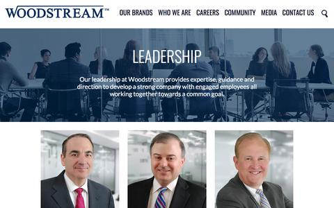Screenshot of Team Page woodstream.com - Leadership   Woodstream - captured Sept. 22, 2018