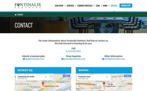 Screenshot of Contact Page fontinalis.com - Contact - Fontinalis Partners, LLC - captured Feb. 10, 2016