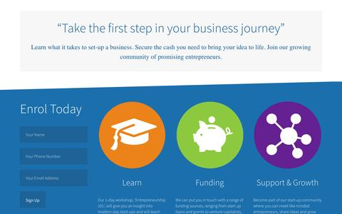 Screenshot of Signup Page startupacademy.org.uk - Enrol at The Start-up Academy - captured Oct. 7, 2014
