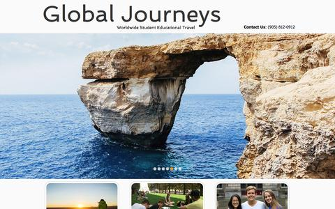 Screenshot of Home Page global-journeys.com - Global Journeys - captured Jan. 17, 2017