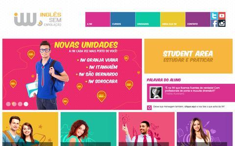 Screenshot of Home Page wenglishschool.com.br - iW • Inglês sem enrolação - captured March 22, 2016