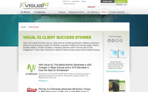 Screenshot of Case Studies Page visualiq.com - Case Studies - Visual IQ - captured Oct. 10, 2014