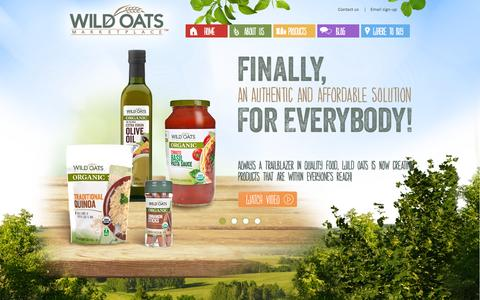 Screenshot of Home Page wildoats.com - Wild Oats   Affordable Food Solutions for Better Living - captured Sept. 23, 2014