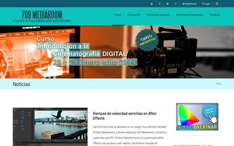 Screenshot of Home Page 709mediaroom.com - Noticias - 709 Media Room - captured Feb. 21, 2016