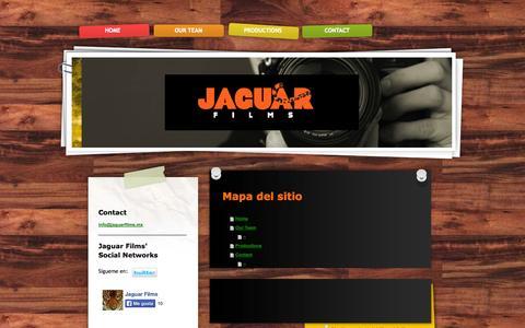 Screenshot of Site Map Page jaguarfilms.mx - Welcome to Jaguar Films - captured Sept. 30, 2014