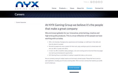 Careers « NYX Gaming Group