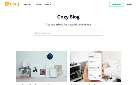 Screenshot of Blog cozy.co - Fireside Chatter - The Cozy blog - captured July 21, 2018