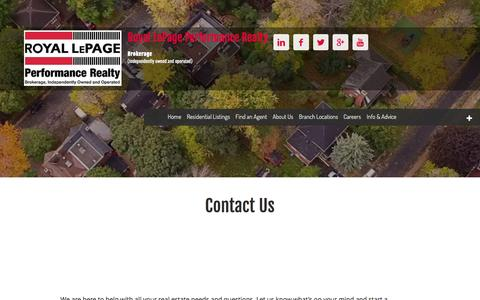Contact Us - Royal LePage Performance Realty