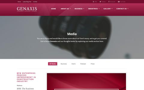 Screenshot of Press Page genaxis.com.my - Media | Genaxis - captured July 14, 2018