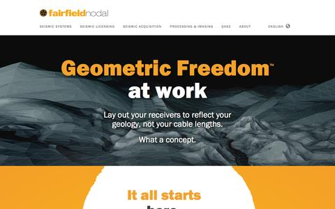 Screenshot of Home Page fairfieldnodal.com - FairfieldNodal - Seismic Done Right - captured Aug. 3, 2015