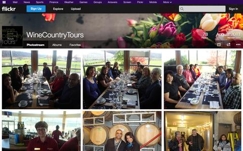 Screenshot of Flickr Page flickr.com - Flickr: WineCountryTours' Photostream - captured Oct. 25, 2014