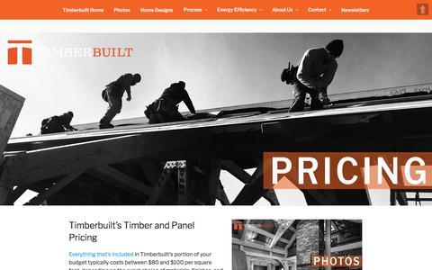 Screenshot of Pricing Page timberbuilt.com - Timber Frame Homes & SIPs Panels | Prices | Timberbuilt - captured Nov. 28, 2017