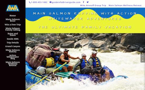 Screenshot of Home Page riverguide.com - Main Salmon Rafting | 5 day Main Salmon Idaho Rafting - captured Oct. 3, 2018